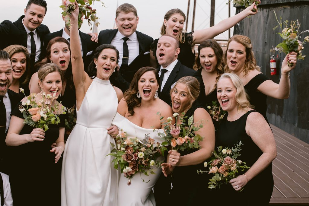winter wedding in December at the greenpoint loft by Brooklyn florist dear bayard